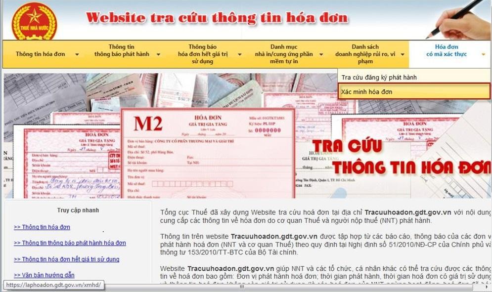 Hướng dẫn tra cứu hóa đơn điện tử trên website của cục Thuế.